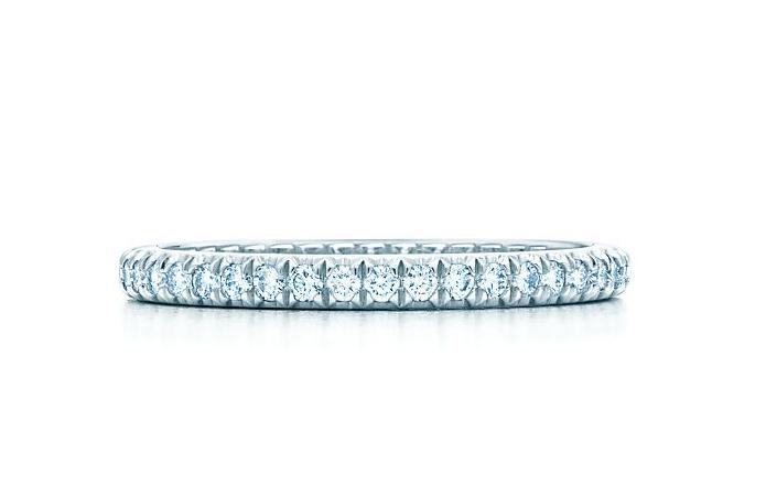 ティファニー ソレスト バンドリング ダイヤモンド プラチナ Tiffany Co