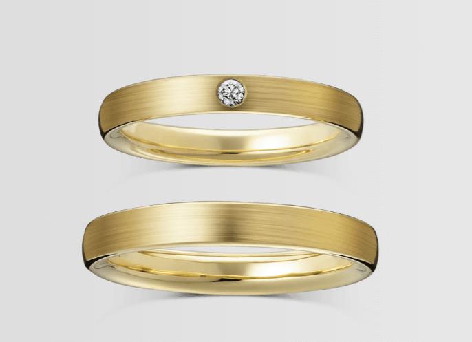 ラザールダイヤモンドのゴールドの結婚指輪