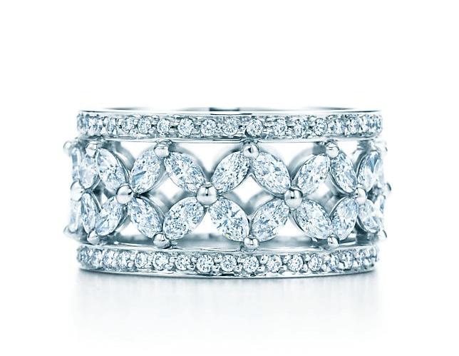 ティファニー ビクトリア™ バンドリング ダイヤモンド プラチナ Tiffany Co