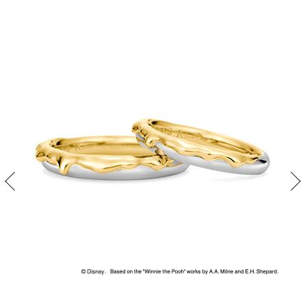 ケイウノのくまのプーさんの結婚指輪