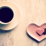 コーヒーとハートのお菓子 カフェ風