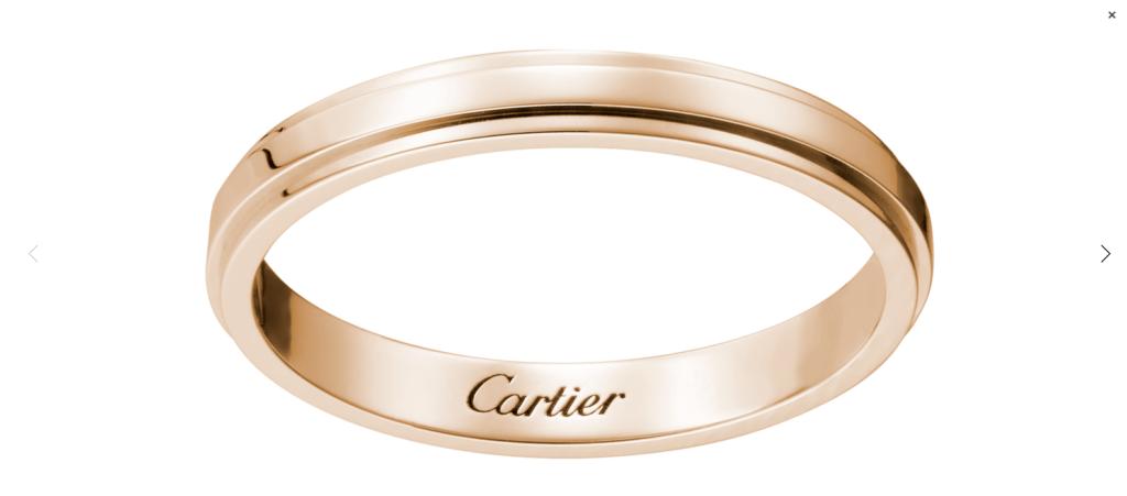 CRB4093700 カルティエ ダムール ウェディング リング ピンクゴールド Cartier