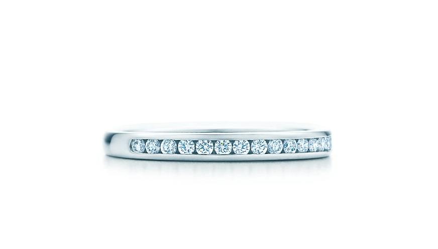 ティファニー ダイヤモンド ウェディング バンドリング プラチナ 幅2MM Tiffany Co