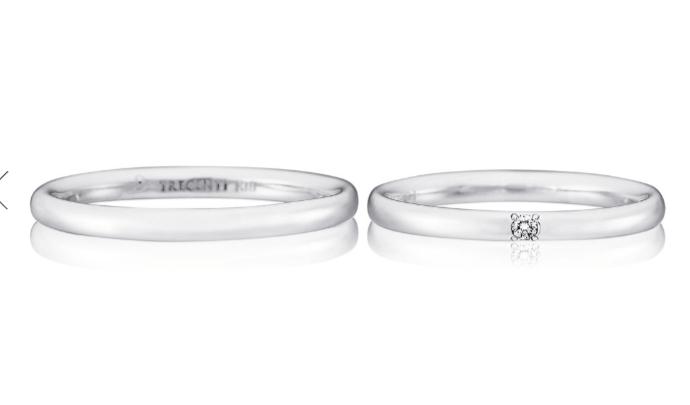 トレセンテのトゥルーハートの結婚指輪