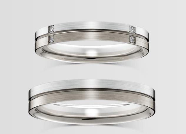 ラザールダイヤモンドのホワイトゴールドの結婚指輪