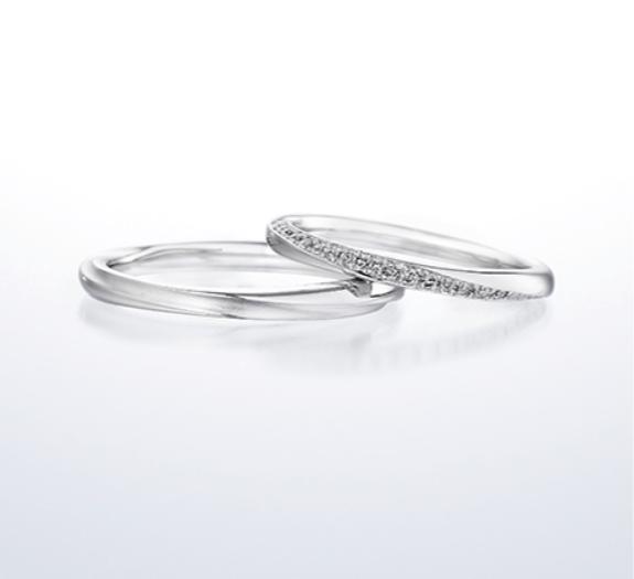 銀座ダイヤモンドシライシのブーケの結婚指輪