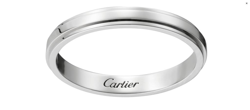 CRB4093900 カルティエ ダムール ウェディング リング プラチナ Cartier