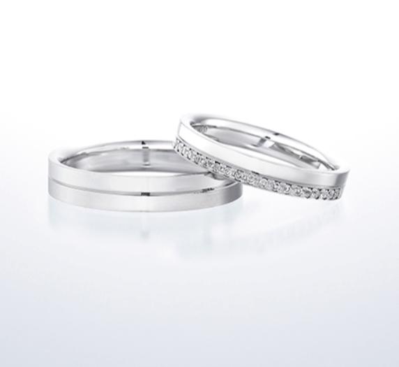 銀座ダイヤモンドシライシのエターナルフローの結婚指輪