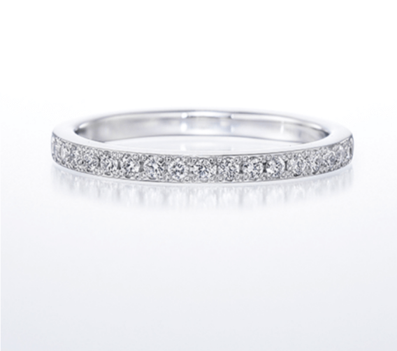 銀座ダイヤモンドシライシのフルエタニティの結婚指輪