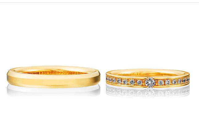 トレセンテのゴールドの結婚指輪