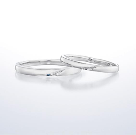 銀座ダイヤモンドシライシのアミュレットの結婚指輪
