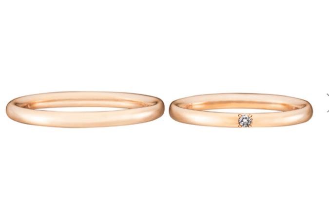 トレセンテのピンクゴールドの結婚指輪