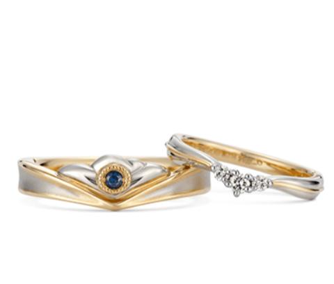 ケイウノの美女と野獣の結婚指輪