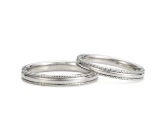ケイウノのミル打ちの結婚指輪