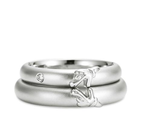 ケイウノのミッキーミニーの結婚指輪