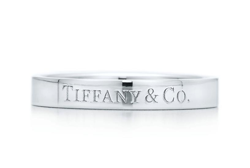 TIFFANY CO フラット バンドリング プラチナ 3MM Tiffany Co
